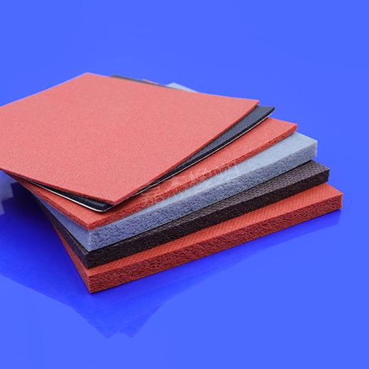 红色耐高温硅胶发泡板