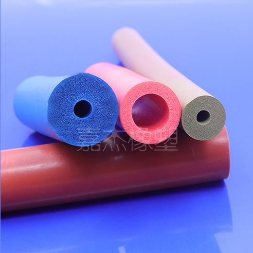多色硅胶发泡管